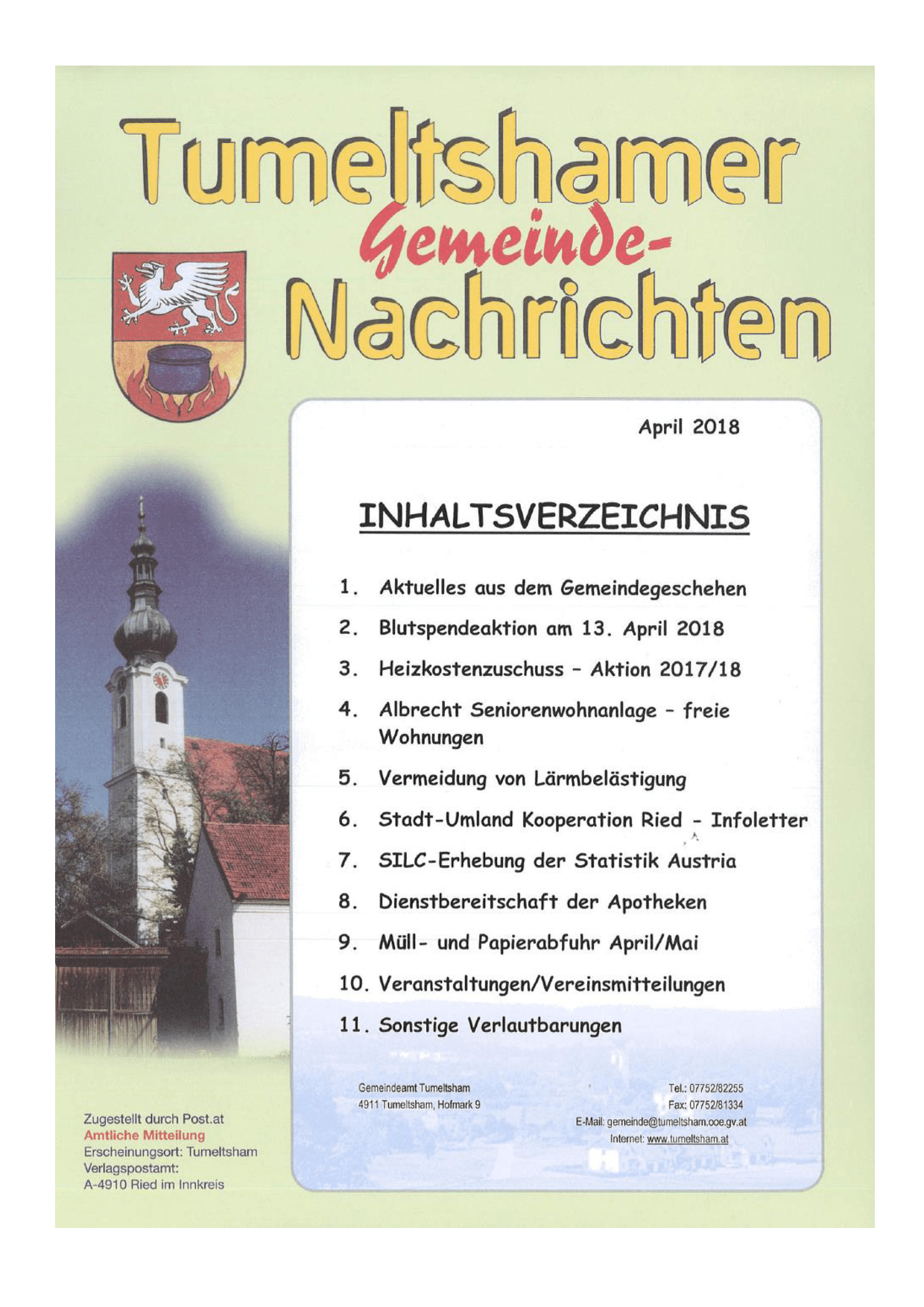 Gemeinde Tumeltsham Startseite BÜRGERSERVICE